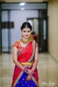 32.Red Silk Half saree