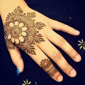 5. Big Flower Back hand henna