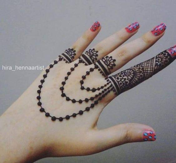 7. Ring model Mehndi back design