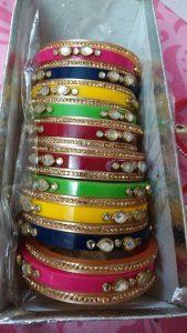 9.Colorful Kundan Bangle