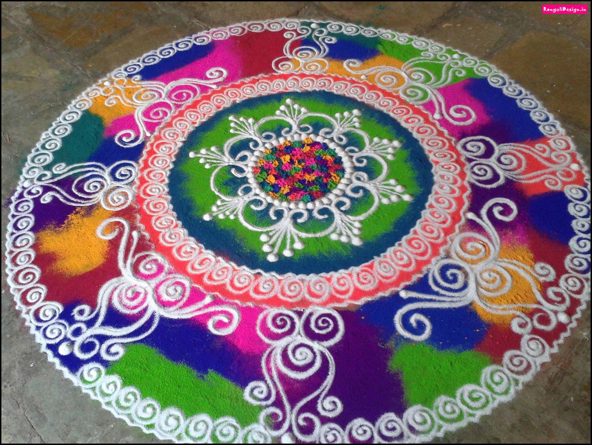 17.Colorful Round Rangoli