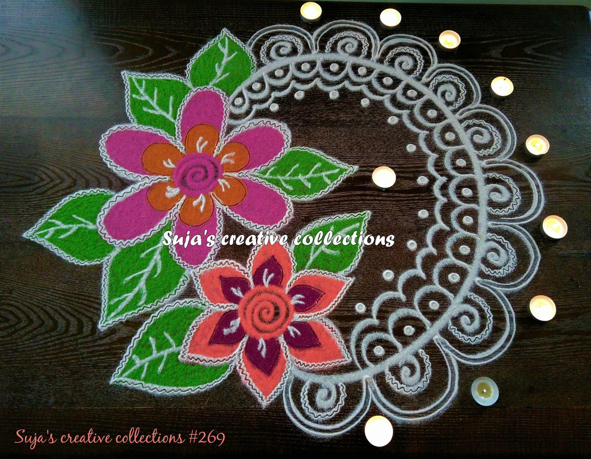 20.Flowers and Leaves Rangoli