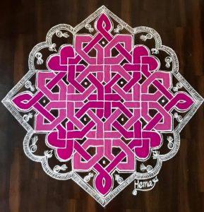21.Geometric Line Rangoli