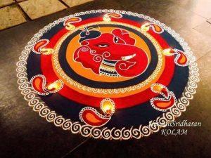 24.Jai Ganesh Rangoli