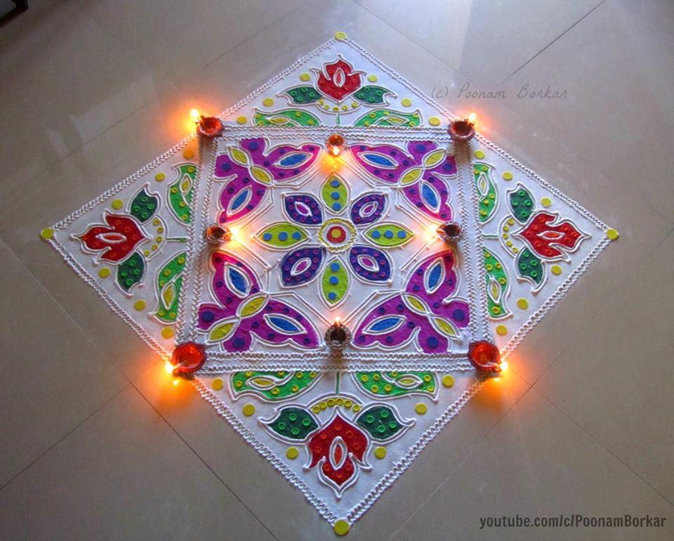 3.Geometric Square Rangoli