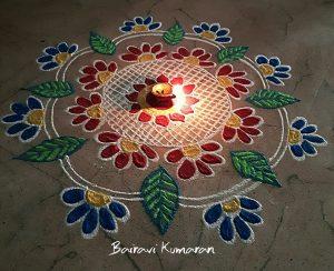 4.Simple Diwali Rangoli