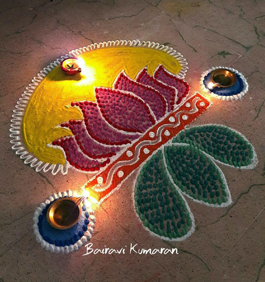 9.Lotus Rangoli