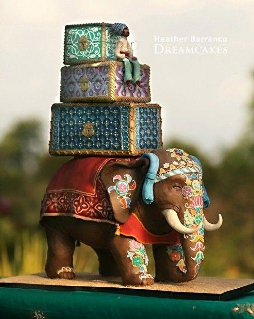 5.Elephant Wedding Cake