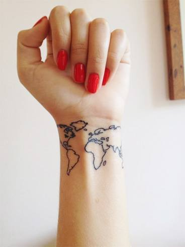 12.World Map Tattoo