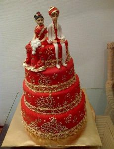 15.Dulhan Dulha Wedding cake