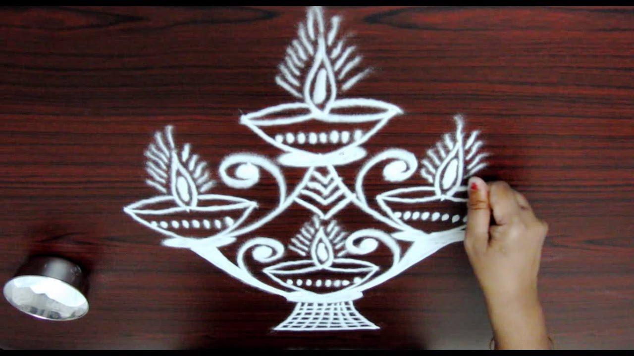 20 Amazing Karthigai Deepam Rangoli To Try Wedandbeyond