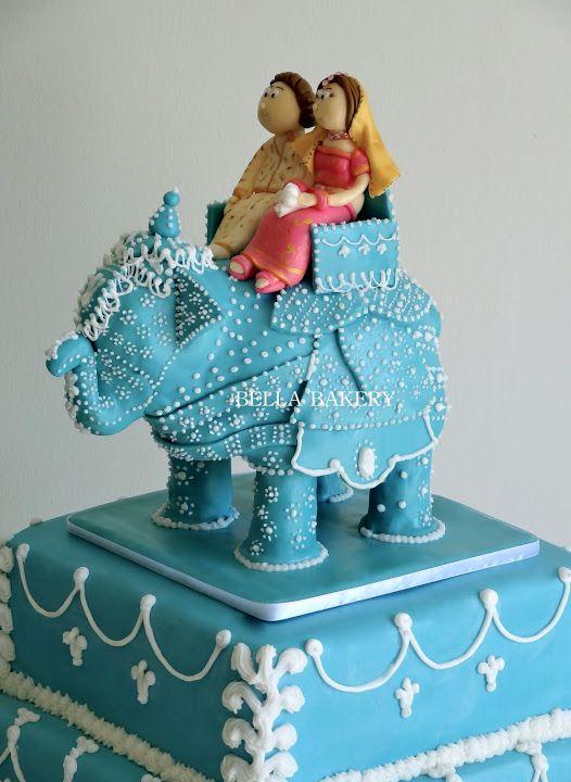 21.Blue Elephant Wedding Cake