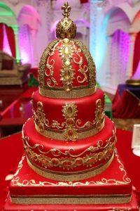 22.Red wedding cake