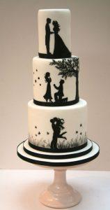 23.Trendy Wedding cake