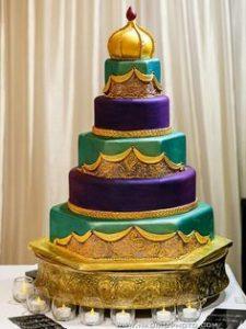 25.Lovely Royal Blue Wedding cake