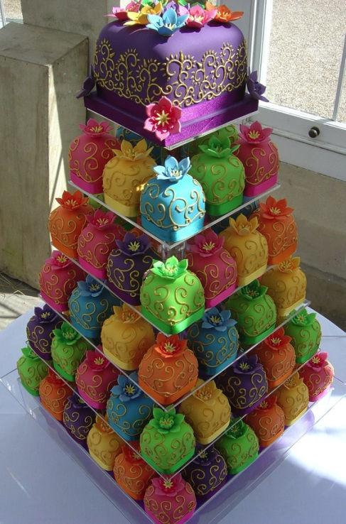 32.Neon Mini Cake