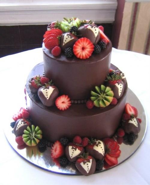 34.Chocolate lovers Wedding Cake