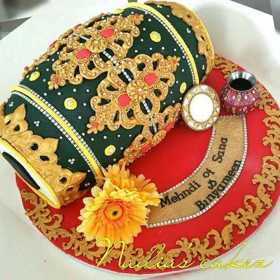 1.Dholak Inspiration Wedding Cake