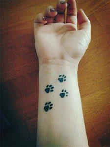 24.Pet paw tattoo