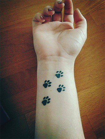 24.Pet paw tattoo