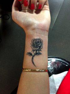 39.Beautiful Rose Tattoo