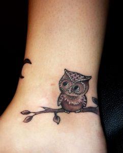 45.Owl Tattoo
