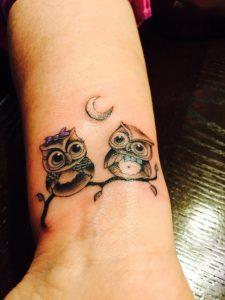 46.Two Owl tattoo