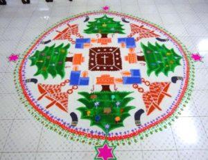 5.Christmas Tree Rangoli