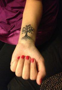 66.Cute Tree Tattoo