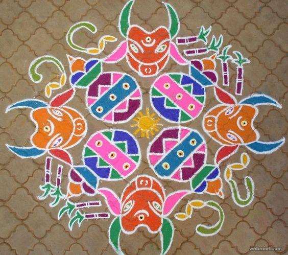 5 Cute 9 Dots Rangoli Pulli Kolam Designs To Try In Coming: 20 Beautiful Pongal Pot Rangoli For Your Inspiration