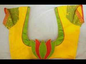 12.Lotus work blouse design