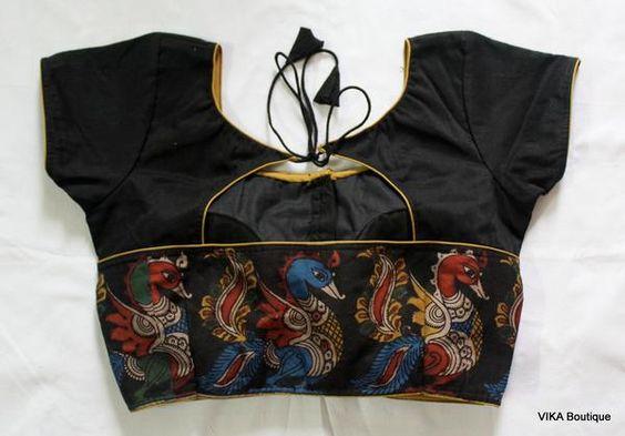 21.Black Kalamkari border blouse