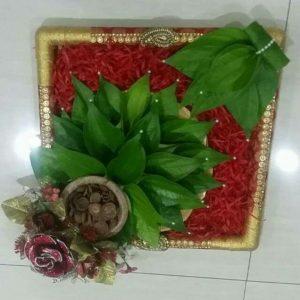 11.Simple Betel leaves plate decoration