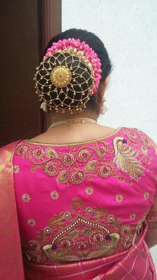 16.Designer bun Hairstyle for Bride