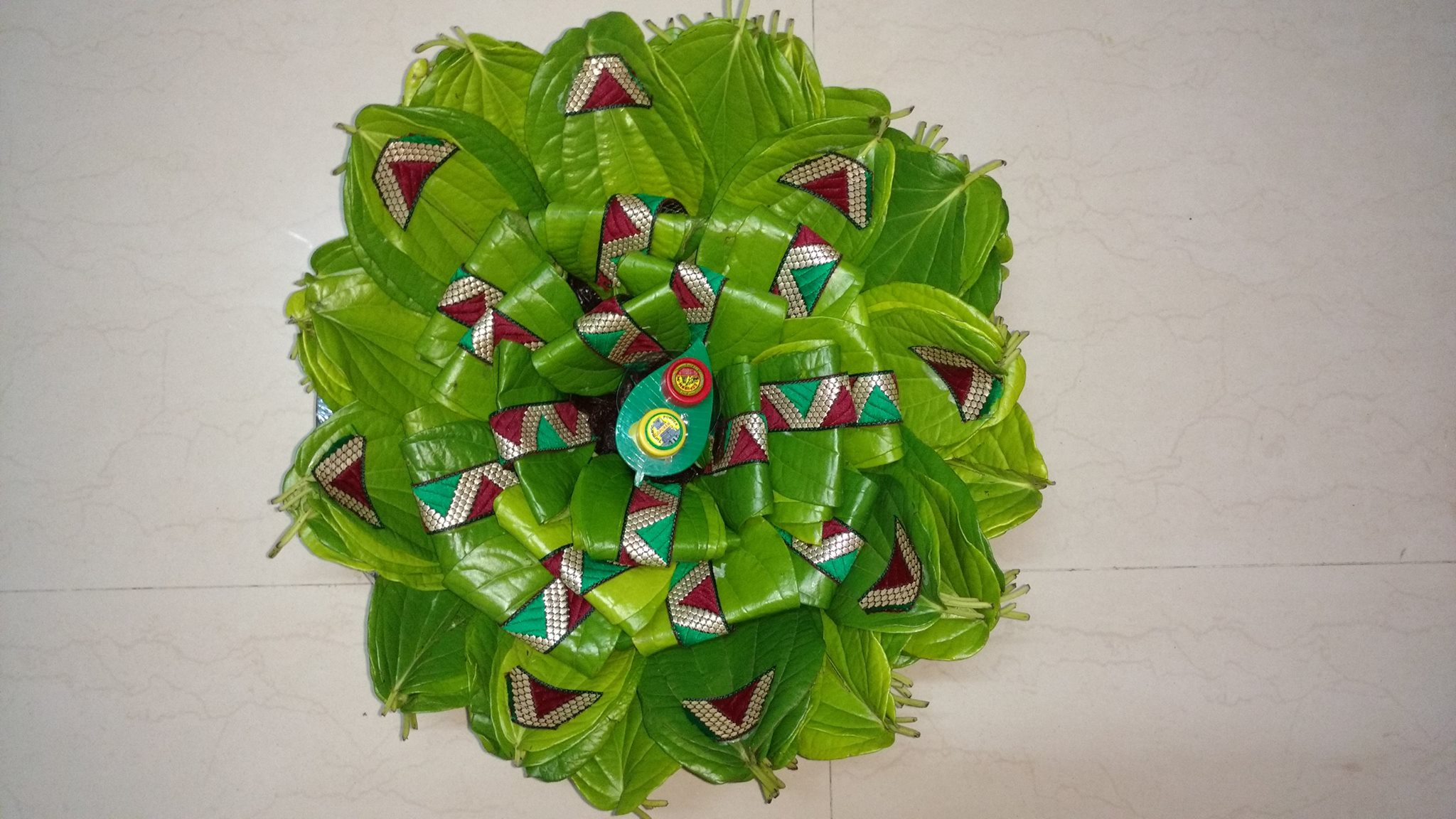 20.Betel Leaves with lace work decoration