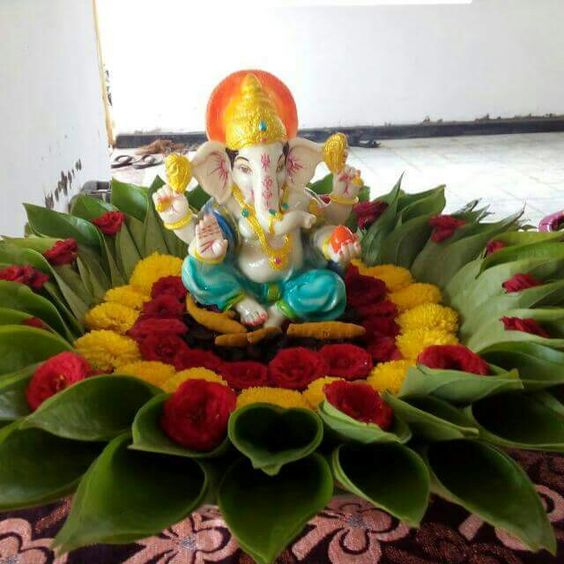 3.Ganesha Betel leaf decoration
