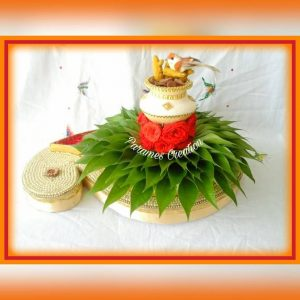 27.Small Bird plate decoration with betel leaf