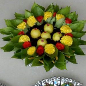 5.Lemon with betel leaf plate decoration