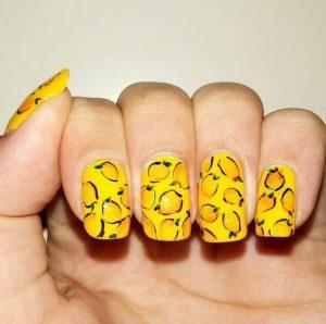 12.lemon Nail Art