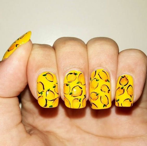 12.lemon Nail Art