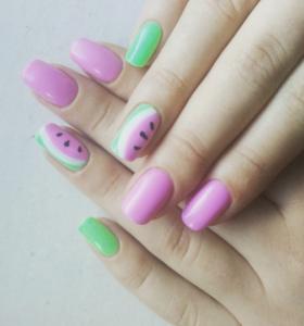 3.Purple watermelon nailart