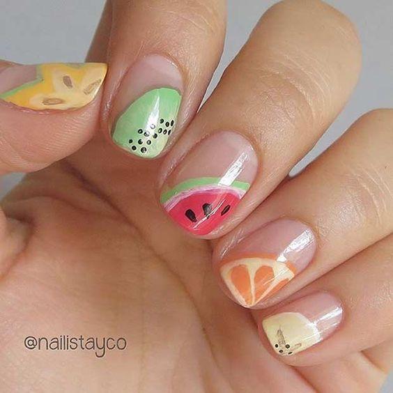 2.Mixed fruit Nail art