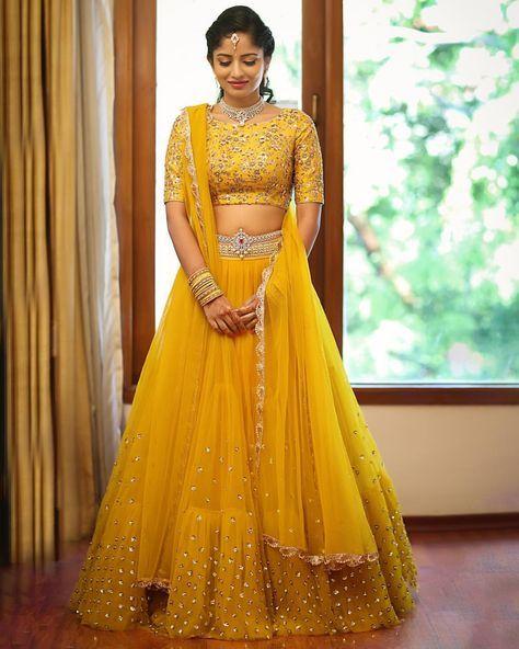 10.Cute Yellow Bridal Lehnga