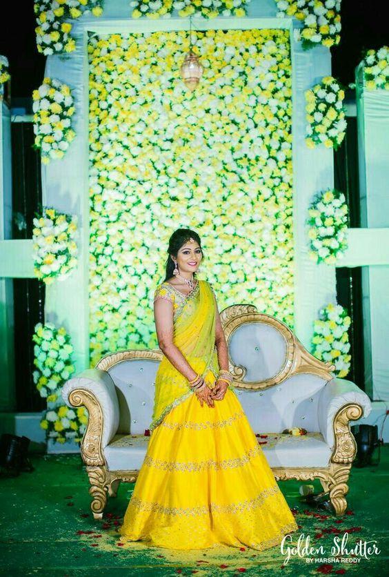 12.Pretty Yellow Bridal Lehnga