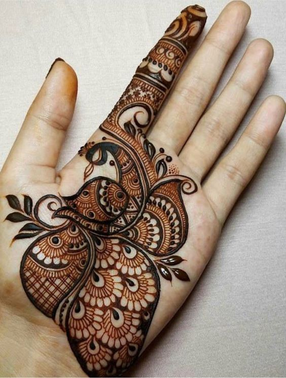 64 Latest Peacock Mehndi Design To Try In 2018 For Hands And Feet