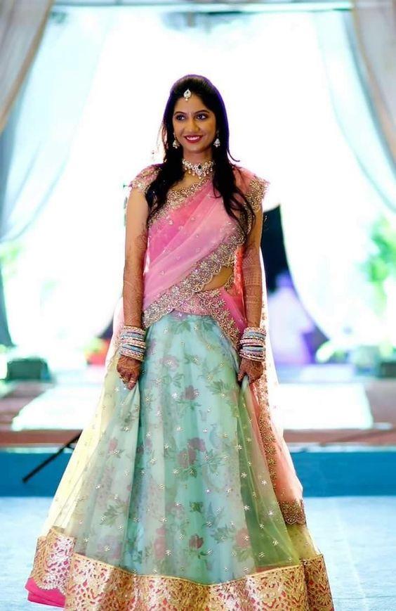 2.Pretty Pink Bridal Lehnga