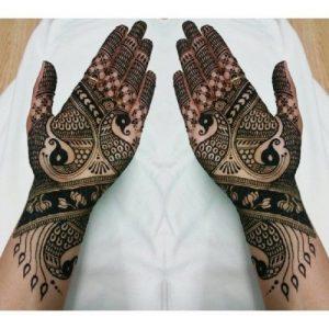27.Double Peacock Mehndi Design