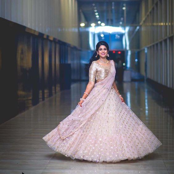 27.Silver work in Pink Bridal Lehnga
