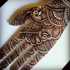44.bridal Peacock henna design