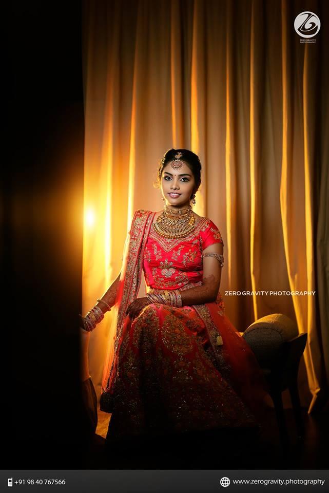 46.Glittering Red Bridal Lehnga